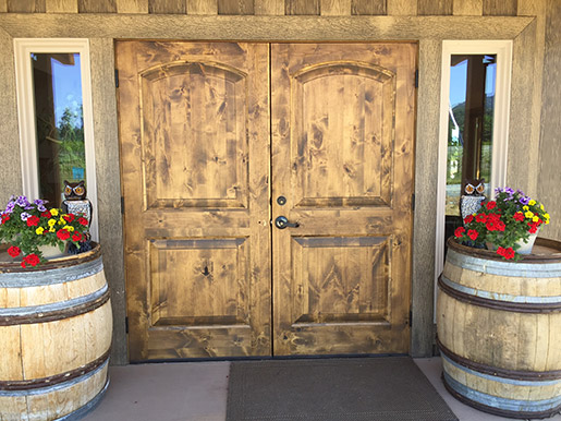 Pebblestone Tasting Room Doors